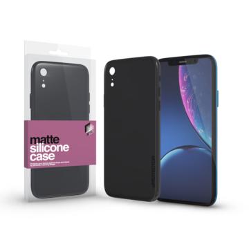 Ultra vékony matt szilikon tok - fekete - Apple iPhone Xr készülékhez