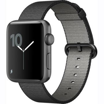 Apple Watch szőtt műanyag szíj - fekete - 42 mm/44 mm