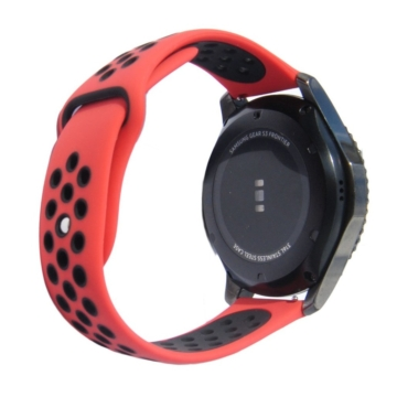 Samsung Watch/Gear S3 lélegző szíj - narancs/szürke, L-méret