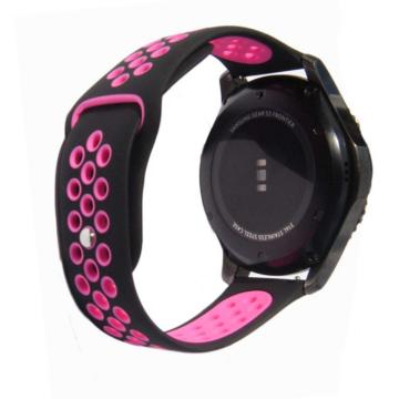 Samsung Watch/Gear S3 lélegző szíj - fekete/lila, S-méret