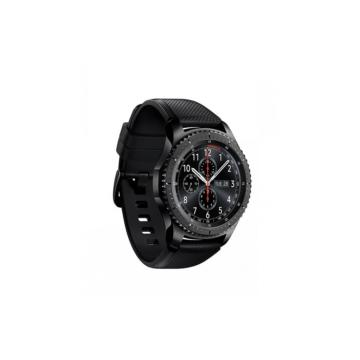 Samsung Gear S3/Samsung Watch szilikonszíj - fekete, L-méret