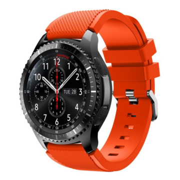 Samsung Gear S3/Samsung Watch szilikonszíj - narancs, S-méret