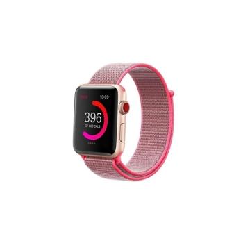 Apple Watch tépőzáras szíj - rózsaszín - 42 mm/44 mm