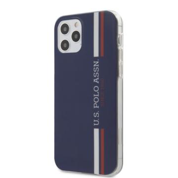 U. S. Polo tok (USHCP12MPCUSSNV) - Apple iPhone 12/12 Pro készülékhez - sötétkék