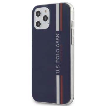 U. S. Polo tok (USHCP12LPCUSSN) - Apple iPhone 12 Pro Max készülékhez  - sötétkék