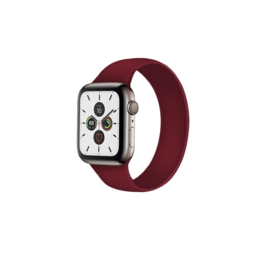 Apple Watch solo szilikonszíj - bordó - 42 mm/44 mm, S-méret