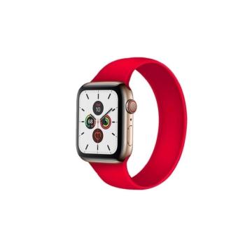 Apple Watch solo szilikonszíj - piros - 42 mm/44 mm, S-méret