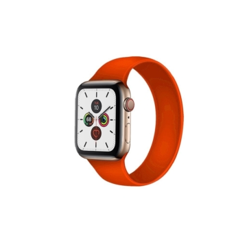 Apple Watch solo szilikonszíj - narancs - 42 mm /44 mm, S-méret