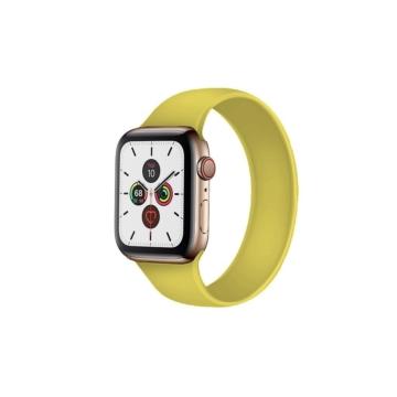 Apple Watch solo szilikonszíj - sárga - 42 mm/44 mm, S-méret