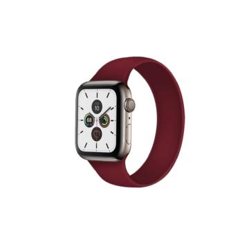 Apple Watch solo szilikonszíj - bordó - 42 mm/44 mm, M-méret