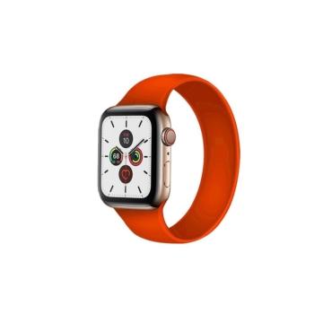 Apple Watch solo szilikonszíj - narancs - 42 mm/44 mm, M-méret