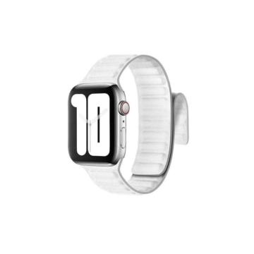 Apple Watch mágneses bőrszíj - fehér - 42 mm/44 mm