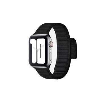Apple Watch mágneses bőrszíj - fekete - 42 mm/44 mm