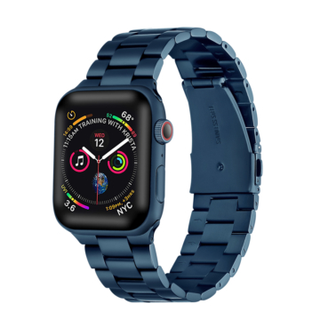 Apple Watch rozsdamentes vastag acélszíj - kék - 38 mm/40 mm