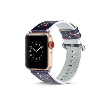 Apple Watch mintás bőrszíj - F17 - 38 mm/40 mm