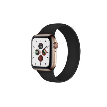 Apple Watch solo szilikonszíj - fekete - 42 mm/44 mm, L-méret