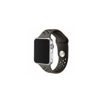 Apple Watch lélegző sportszíj - khaki/fekete - 42 mm/44 mm