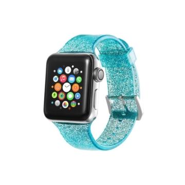 Apple Watch csillámos szíj - türkizkék - 38 mm/40 mm