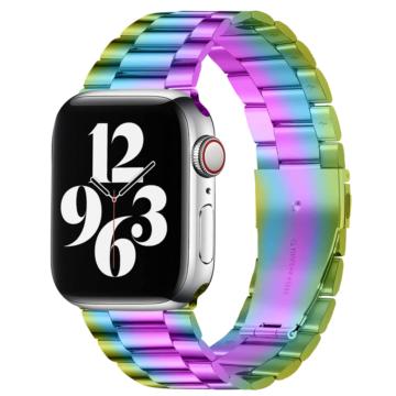Apple Watch rozsdamentes vastag acélszíj - szivárvány - 38 mm/40 mm