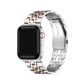 Apple Watch rozsdamentes acélszíj - ezüst/rosegold - 42 mm/44 mm