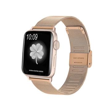 Apple Watch rozsdamentes acélszíj csattal - rosegold - 42 mm/44 mm