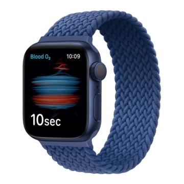 Apple Watch fonott körpánt - sötétkék - 38 mm/40 mm, L-méret