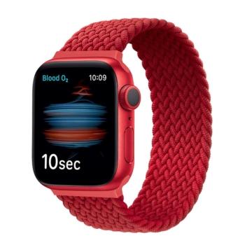 Apple Watch fonott körpánt - piros - 42 mm/44 mm, L-méret