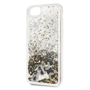 Apple iPhone 7/8/SE2 KARL LAGERFELD KLHCI8ROGO Liquid Glitter Hátlap – arany