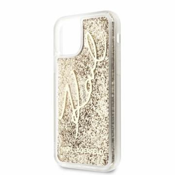 Apple iPhone 11 KARL LAGERFELD KLHCN61TRKSGO Hátlap – arany