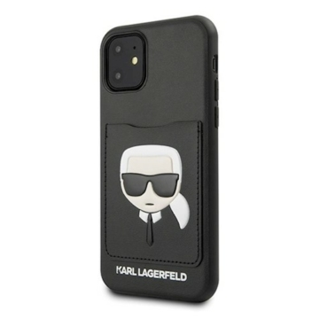 KARL LAGERFELD iPhone 11 tok (KLHCN61CSKCBK) - fekete