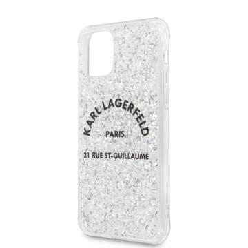 KARL LAGERFELD iPhone 11 Pro Max tok (KLHCN65TRFGSL) - ezüst