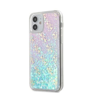 "GUESS iPhone 12 Mini tok 5,4"" (GUHCP12SLG4GGBLPI) - rózsaszín"