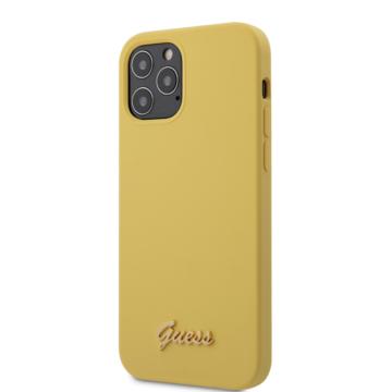 "GUESS iPhone 12/12 Pro tok 6,1"" (GUHCP12MLSLMGYE) - sárga"