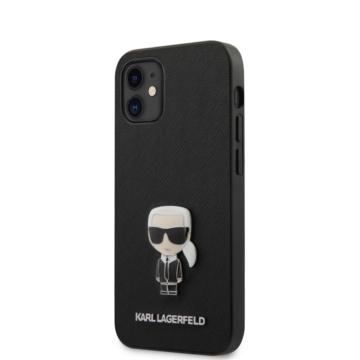"KARL LAGERFELD iPhone 12 Mini tok 5,4"" (KLHCP12SIKMSBK) - fekete"