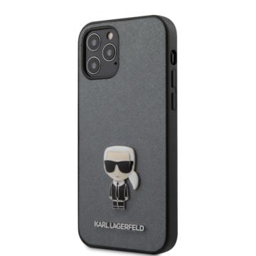 "KARL LAGERFELD iPhone 12/12 Pro tok 6,1"" (KLHCP12MIKMSSL) - ezüst"