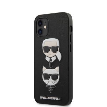 """KARL LAGERFELD iPhone 12 Mini tok 5,4"""" (KLHCP12SSAKICKCBK) - fekete"""