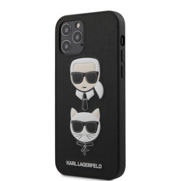 """KARL LAGERFELD iPhone 12/12 Pro tok 6,1"""" (KLHCP12MSAKICKCBK) - fekete"""
