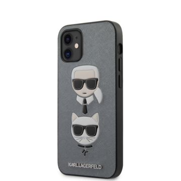 "KARL LAGERFELD iPhone 12 Mini tok 5,4"" (KLHCP12SSAKICKCSL) - ezüst"
