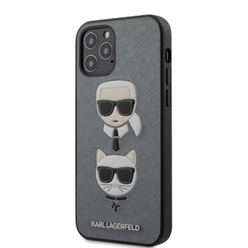 "KARL LAGERFELD iPhone 12/12 Pro tok 6,1"" (KLHCP12MSAKICKCSL) - ezüst"