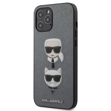 "KARL LAGERFELD iPhone 12 Pro Max tok 6,7"" (KLHP12LSAKICKCSL) - ezüst"