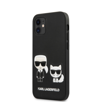 "KARL LAGERFELD iPhone 12 Mini tok 5,4"" (KLHCP12SPCUSKCBK) - fekete"