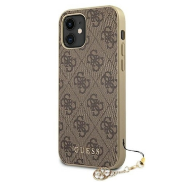 "GUESS iPhone 12 Mini tok 5,4"" (GUHCP12SGF4GBR) - barna"