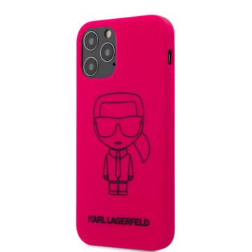 """KARL LAGERFELD iPhone 12/12 Pro tok 6,1"""" (KLHCP12MSILFLPI) - rózsaszín"""