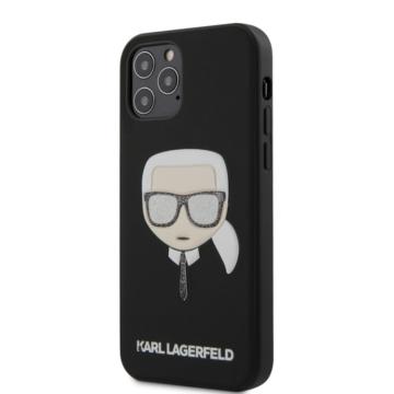 """KARL LAGERFELD iPhone 12/12 Pro tok 6,1"""" (KLHCP12MGLBK) - fekete"""