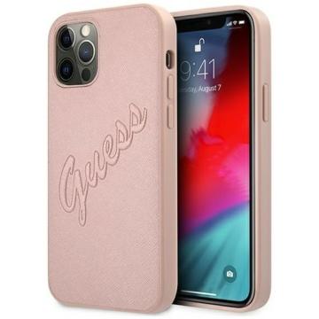 Apple iPhone 12/12 Pro GUESS (GUHCP12MRSAVSRG) hátlap - rose gold