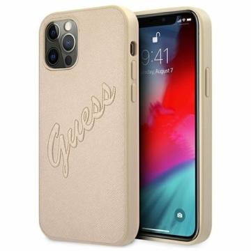 Apple iPhone 12/12 Pro GUESS (GUHCP12MRSAVSLG) hátlap - arany