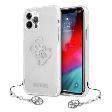 Apple iPhone 12/12 Pro GUESS (GUHCP12MKS4GSI) TPU hátlap - ezüst