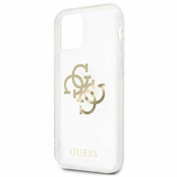 Apple iPhone 12/12 Pro GUESS (GUHCP12MKS4GGO) TPU hátlap - arany