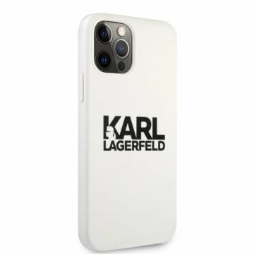 Apple iPhone 12/12 Pro KARL LAGERFELD (KLHCP12MSLKLWH) liquid szilikon hátlap - fehér