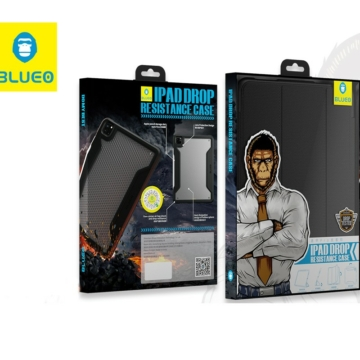 Apple iPad 12.9'' Blueo Military Könyvtok - Fekete